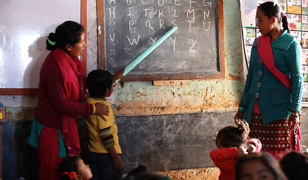 EDC classroom in Kavre