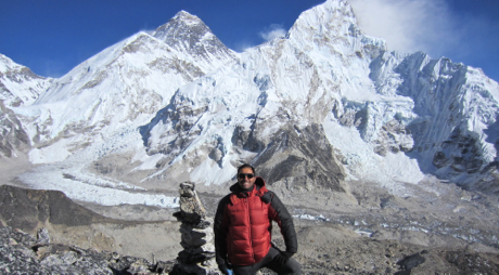 Francesco Rovetta at Mt. Everest