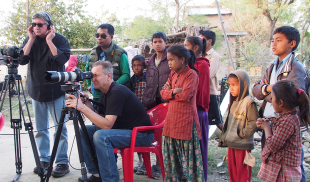 Roy Cox and Robin Mortarotti on  location in Nepal