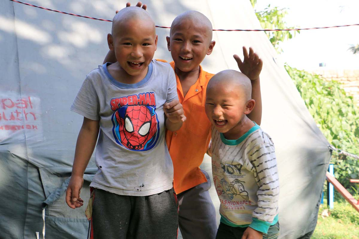 3 brothers after rescue at transit home Families and Safety